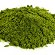Freeze-dried organic wheat grass powder — Stock Photo
