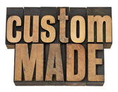 Custom made in wood type — Stock Photo