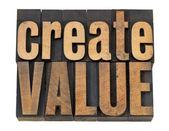 Créer un texte de valeur dans le type de bois — Photo