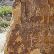 Petroglyphs of NIne Mile Canyon - Stock Photo