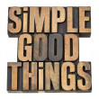 Simple good things — Foto Stock