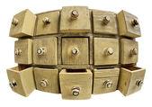 Concetto di archiviazione dati - armadietto del cassetto — Foto Stock
