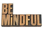 Be mindful in letterpress wood type — Stock Photo
