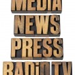 Media, news, press, radio and tv — Stock Photo