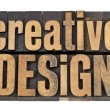 Stock Photo: Creative design in wood type