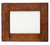 Wooden frame with canvas — Stock Photo