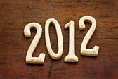 2012 year in wood letters — Stock Photo