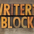 Stock Photo: Writer block in letterpress type
