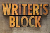 Writer block in letterpress type — Stock Photo