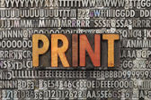 Print word in letterpress type — Stock Photo