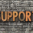 Stock Photo: Support in letterpress type