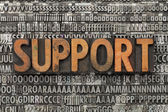 Support in letterpress type — Stock Photo