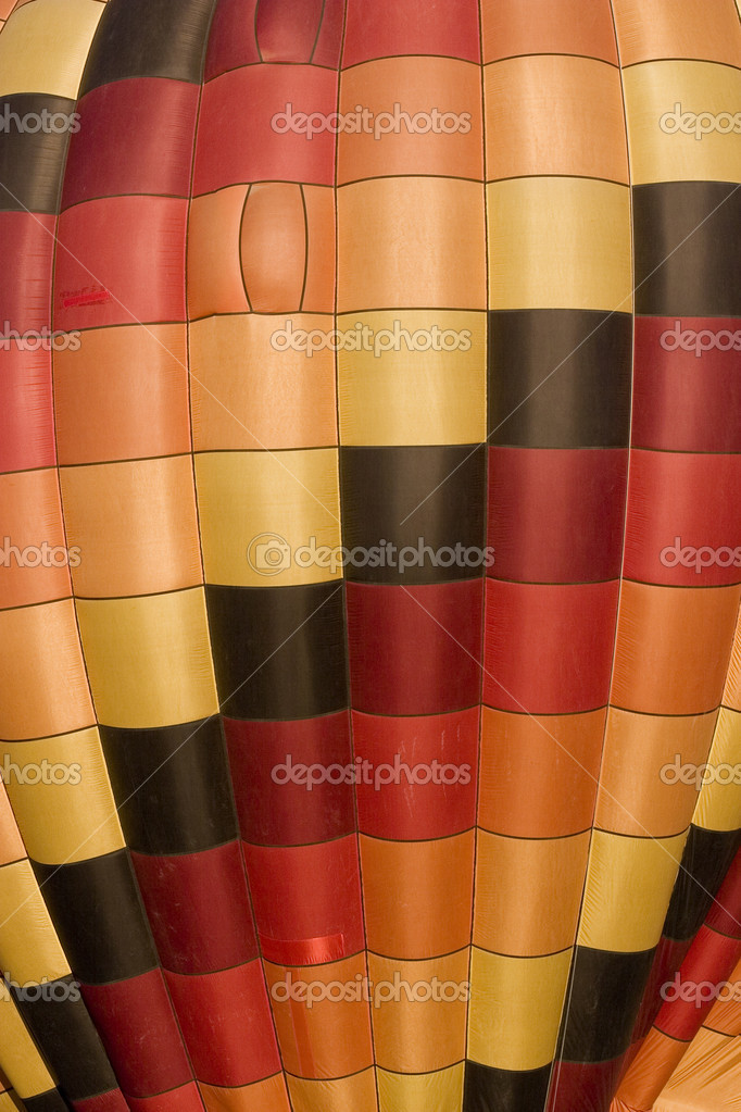 A detail of inflated hot air balloon in warm earth colors — Stock Photo #8096745