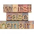 Stock Photo: Worst case scenario - risk concept