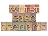 Worst case scenario - risk concept — Stock Photo