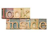 Look inside invitation — Stock Photo