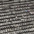 Stock Photo: Vintage metal letters and numbers