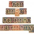 Fear, anger, balance, harmony — Stock Photo