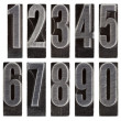 Metal type numbers isolated — Stock Photo