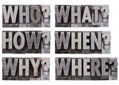 Perguntas de brainstorming ou decisão — Foto Stock