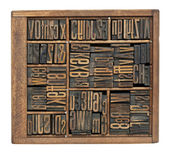 Antique letters, numbers and ligature — Stock Photo