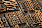 Antique letterpress type abstract — Stock Photo