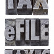 E-file taxes - tax concept — Stock Photo