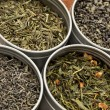 Green tea samples - Stock Photo