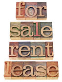 For sale, rent, lease — Stock Photo