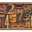 Antique wood number abstract — Stock Photo