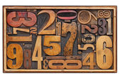 Antique wood number abstract — Foto de Stock