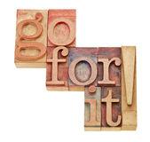 Go for it - motivation concept — Stock Photo