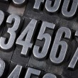 Numbers in old metal type — Stock Photo
