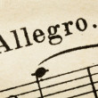 Allegro - fast music tempo — Stock Photo