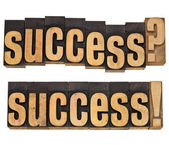 Success question and confirmation — Stock Photo