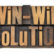 Win-win solution in letterpress - Stock Photo