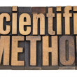 Scientific method in wood type — Stock Photo