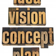 Idea, vision, concept and plan — Stock Photo