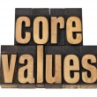 Foto de Stock  : Core values - ethics concept