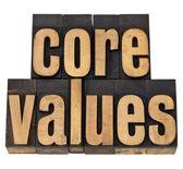 Valores fundamentais - conceito de ética — Foto Stock