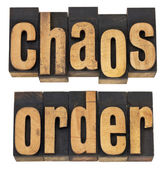Chaos and order — Stock Photo