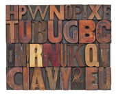 Antique wood type letters — Stock Photo