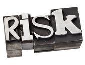 Risk word in metal type — Stock Photo