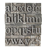 Alfabet granica typu meta — Zdjęcie stockowe