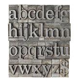 Alfabeto in tipo meta grunge — Foto Stock