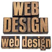 Web design in letterpress type — Stock Photo