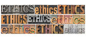 Ethics word abstract — Stock Photo