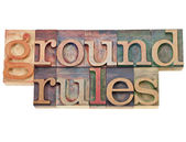Ground rules — 图库照片