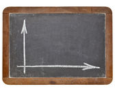 Blank graph on blackboard — Stock Photo