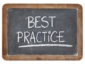 Best practice on blackboard — Stock Photo